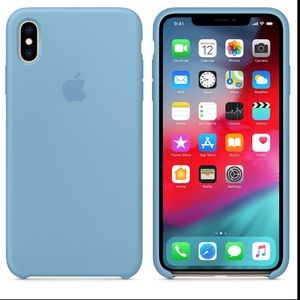 🐬Xs Max Iphone Cornflower silicone by Apple🐬